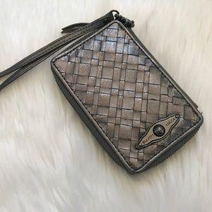 Elliott Lucca Woven Wristlet Wallet